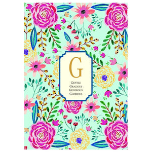 Gifts of Love Notebook Monogram Initial