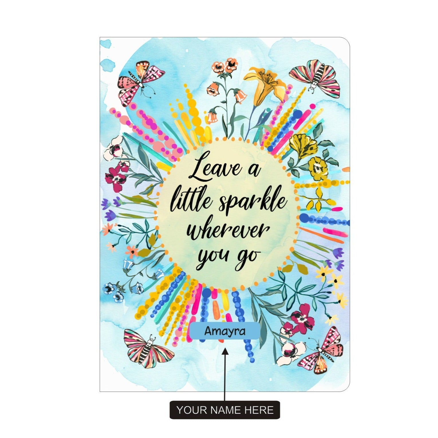 Gifts of Love Personalised Soft Cover Notebook A5 Leave a Little Sparkle Wherever You Go