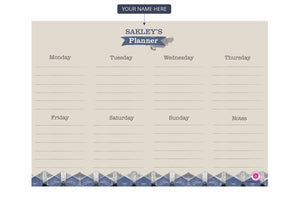 Gifts of Love Personalised Aizo Weekly Planner A5 Notepad