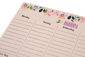 Gifts of Love Personalised Notepad Weekly Planner Abbey 7.5x5.25