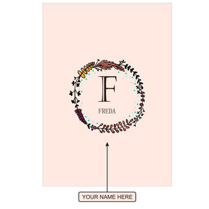Gifts of Love Notebook Personalised Initial F Laila