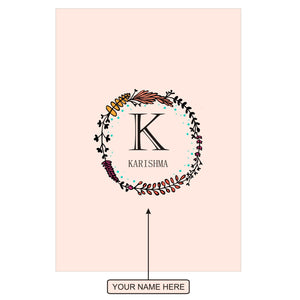 Gifts of Love Notebook Personalised Initial K Laila