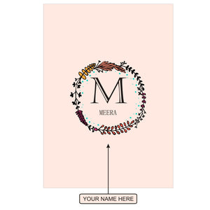 Gifts of Love Notebook Personalised Initial M Laila