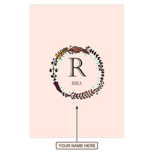 Gifts of Love Notebook Personalised Initial R Laila