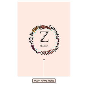 Gifts of Love Notebook Personalised Initial Z Laila