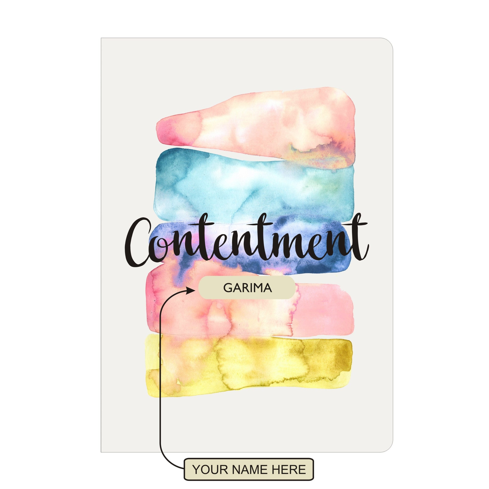Personalised Notebook Inner Treasure Contentment Soft Cover A5 3