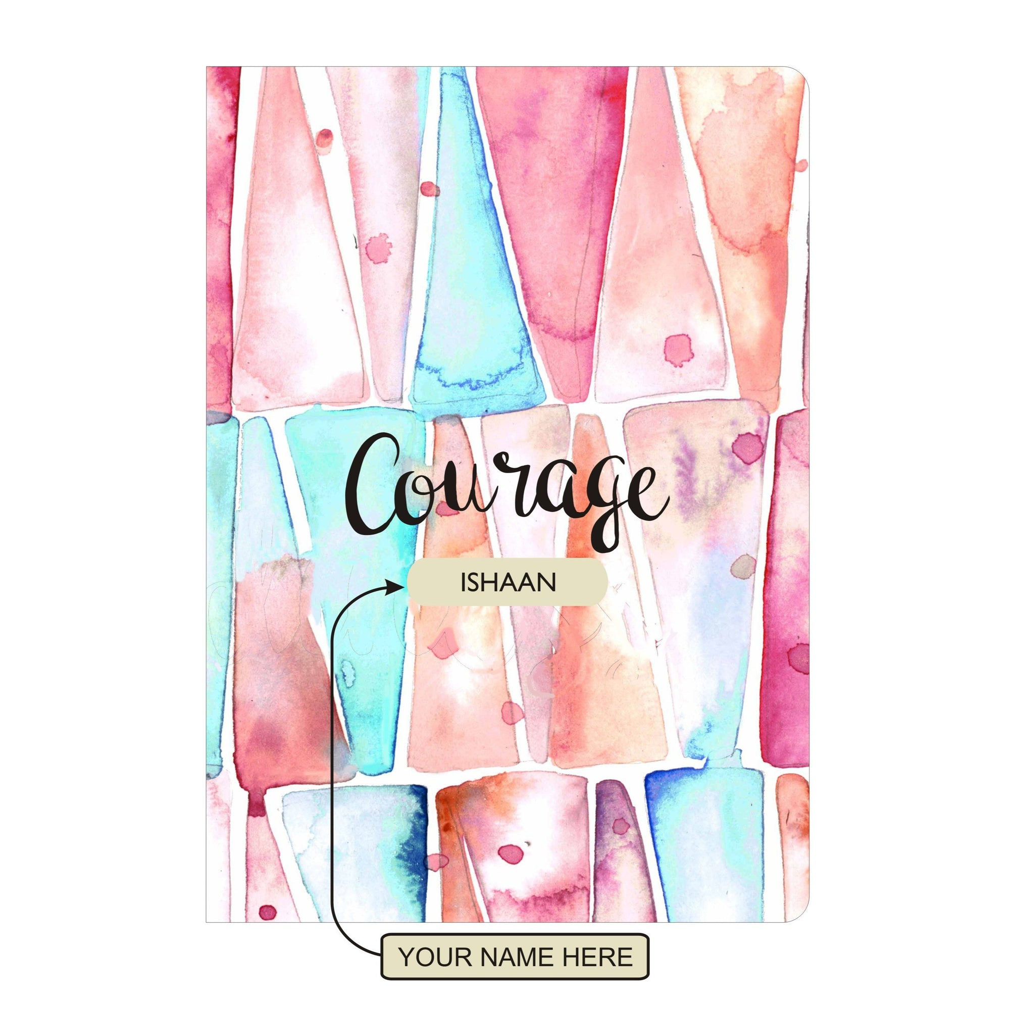 Personalised Notebook Inner Treasure Courage Soft Cover A5 3