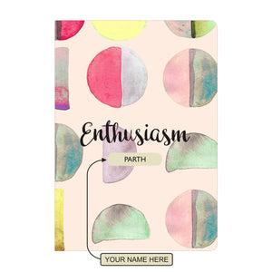 Gifts of Love Personalised Soft Cover Notebook A5 - Enthusiasm