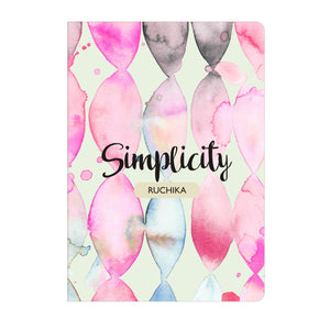 Gifts of Love Personalised Soft Cover Notebook A5 - Simplicity