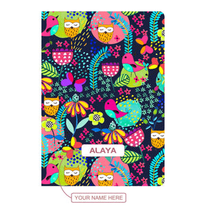Gifts of Love Personalised Soft Cover Notebook A5 - Owlskool