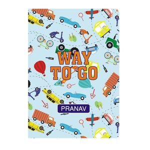 Personalised Soft Cover Notebook A5 - Vroom