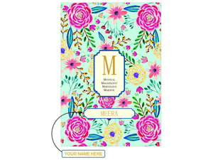 Gifts of Love Personalised  Monogram Initial Notebook