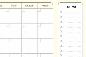 Gifts of Love Month Planner Undated
