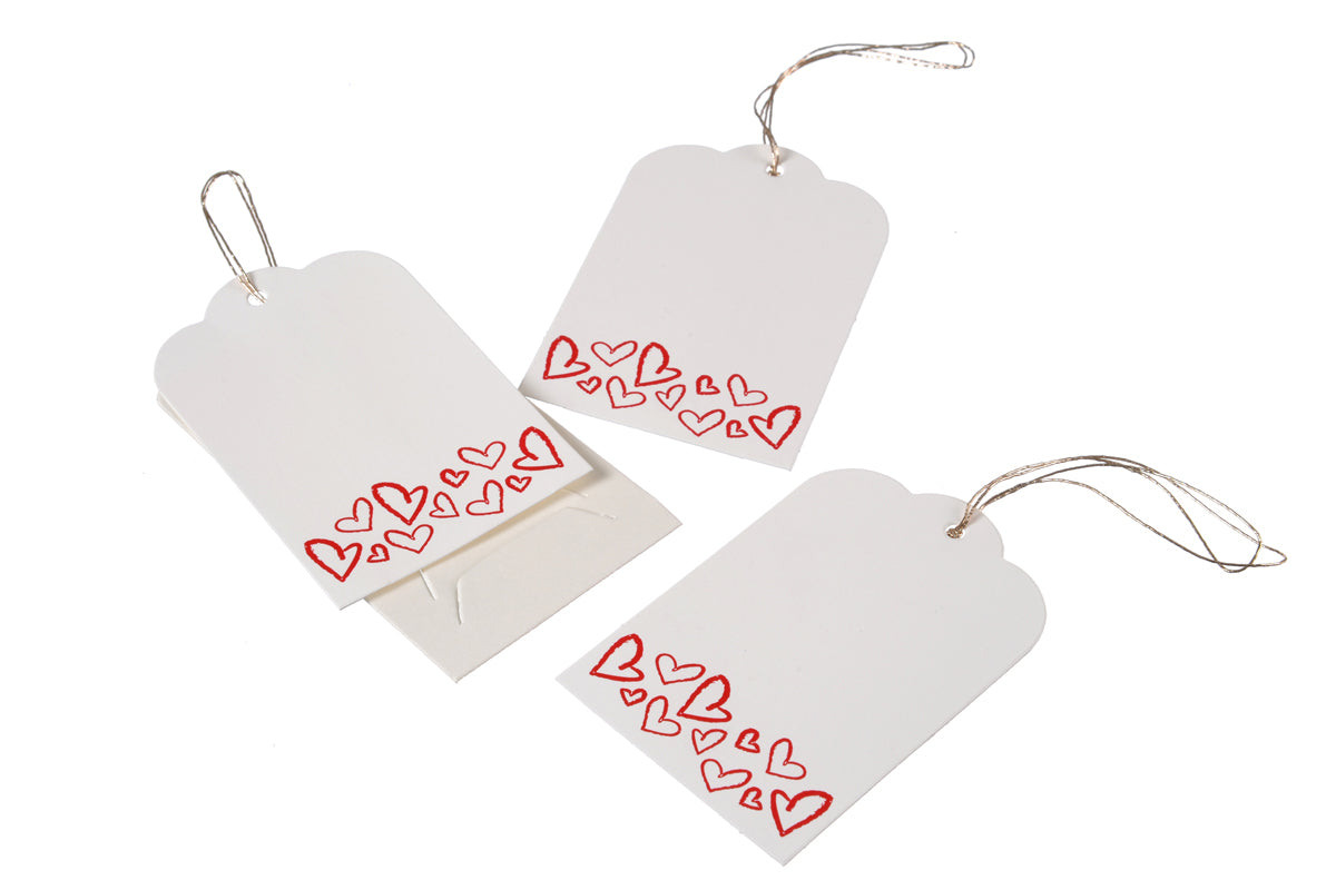 'Red Heart' - Set of 3 Gift Tag