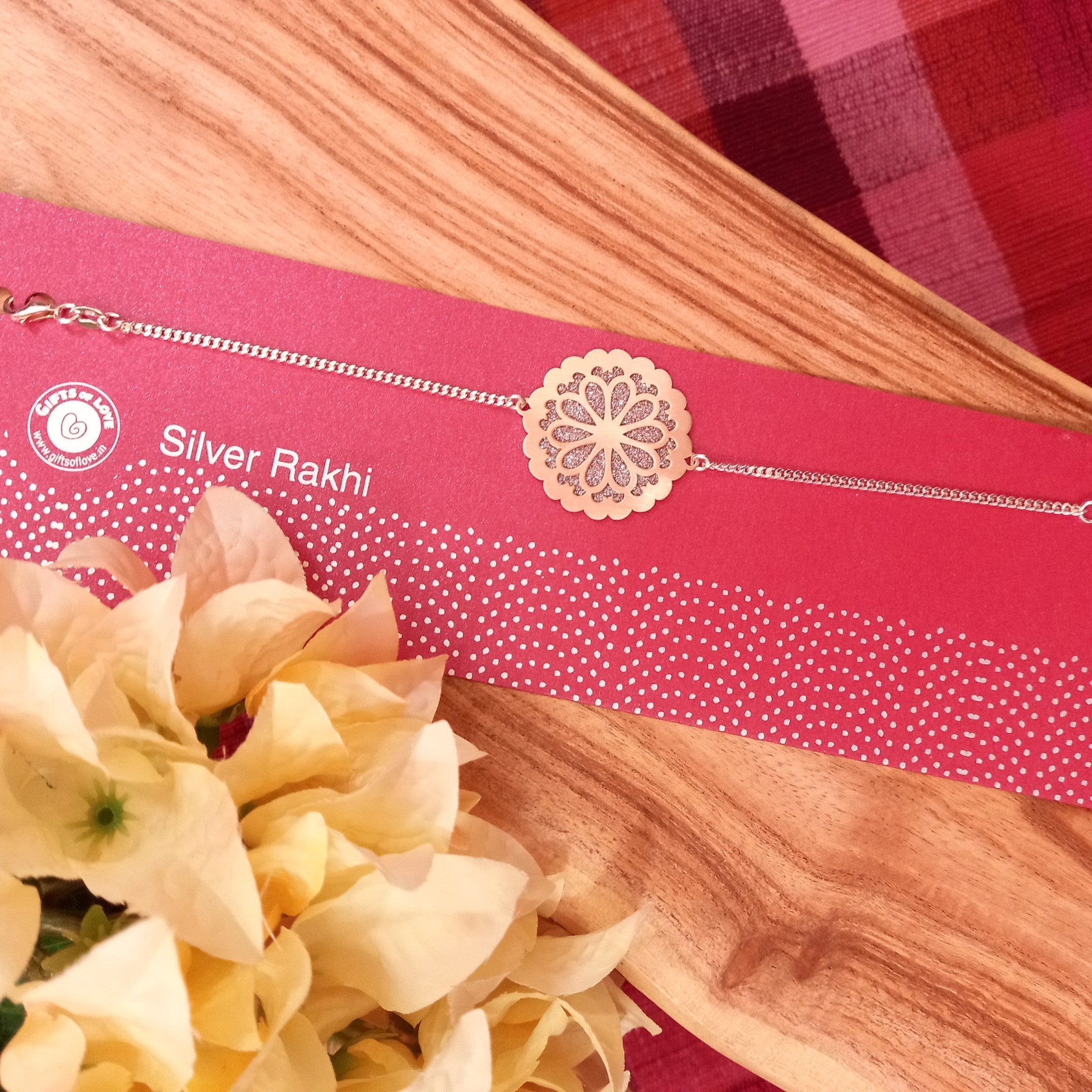 Gifts of Love Silver Rakhi
