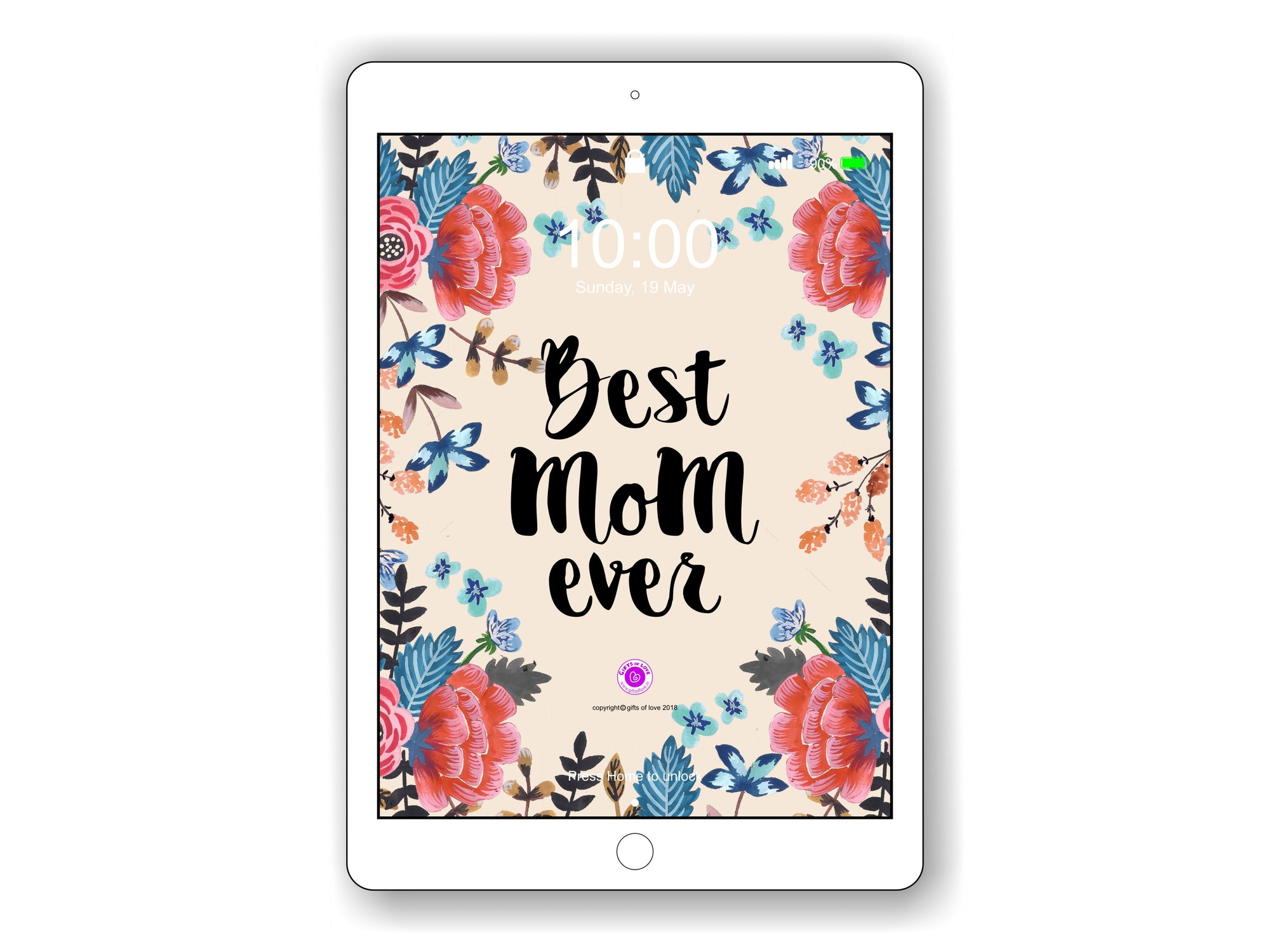 iPad/Tablet Wallpaper Camellia 'Best Mom Ever'