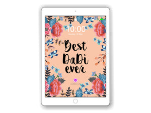 iPad/Tablet Wallpaper Camellia 'Best Dadi Ever'