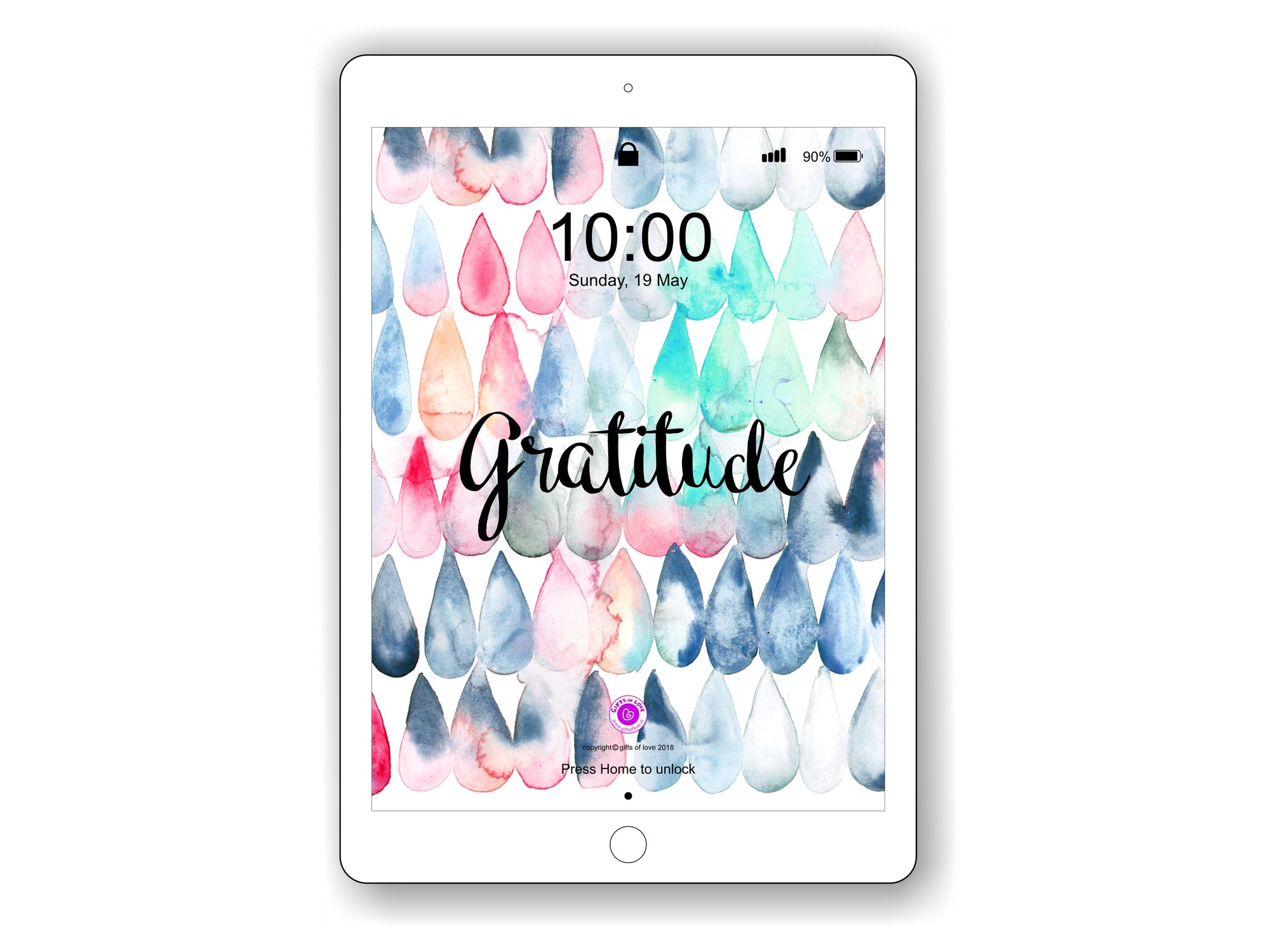 iPad/Tablet Wallpaper GRATITUDE Inner Treasure