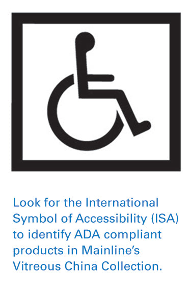The International Symbol of Accessibility (ISA) helps identify ADA compliant products.
