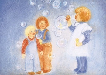 Blowing Bubbles Postcard