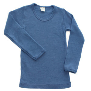 Organic Wool and Wool-Silk Long-Sleeved Shirts