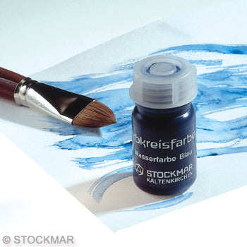 Circle Blue Watercolor Paint