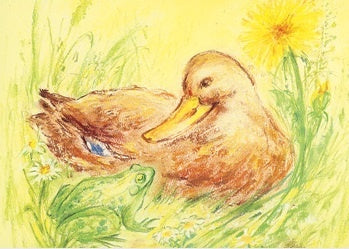 Duck and Frog Postcard