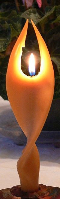 Beeswax Angel Candle