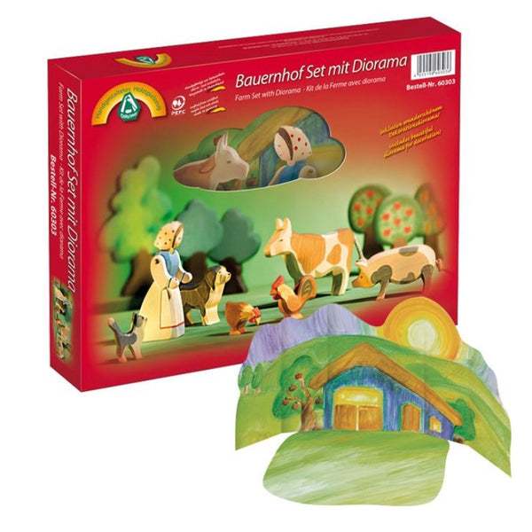 Wooden Farm Set with Background