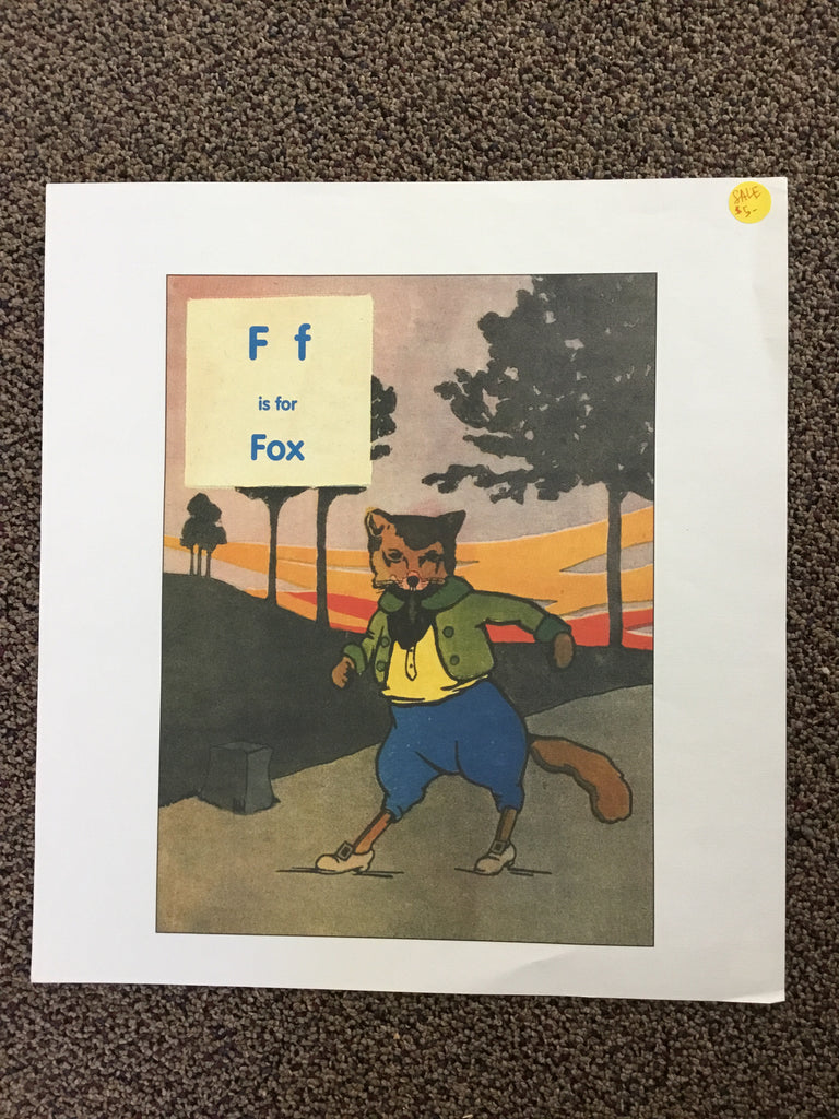 F f is for Fox