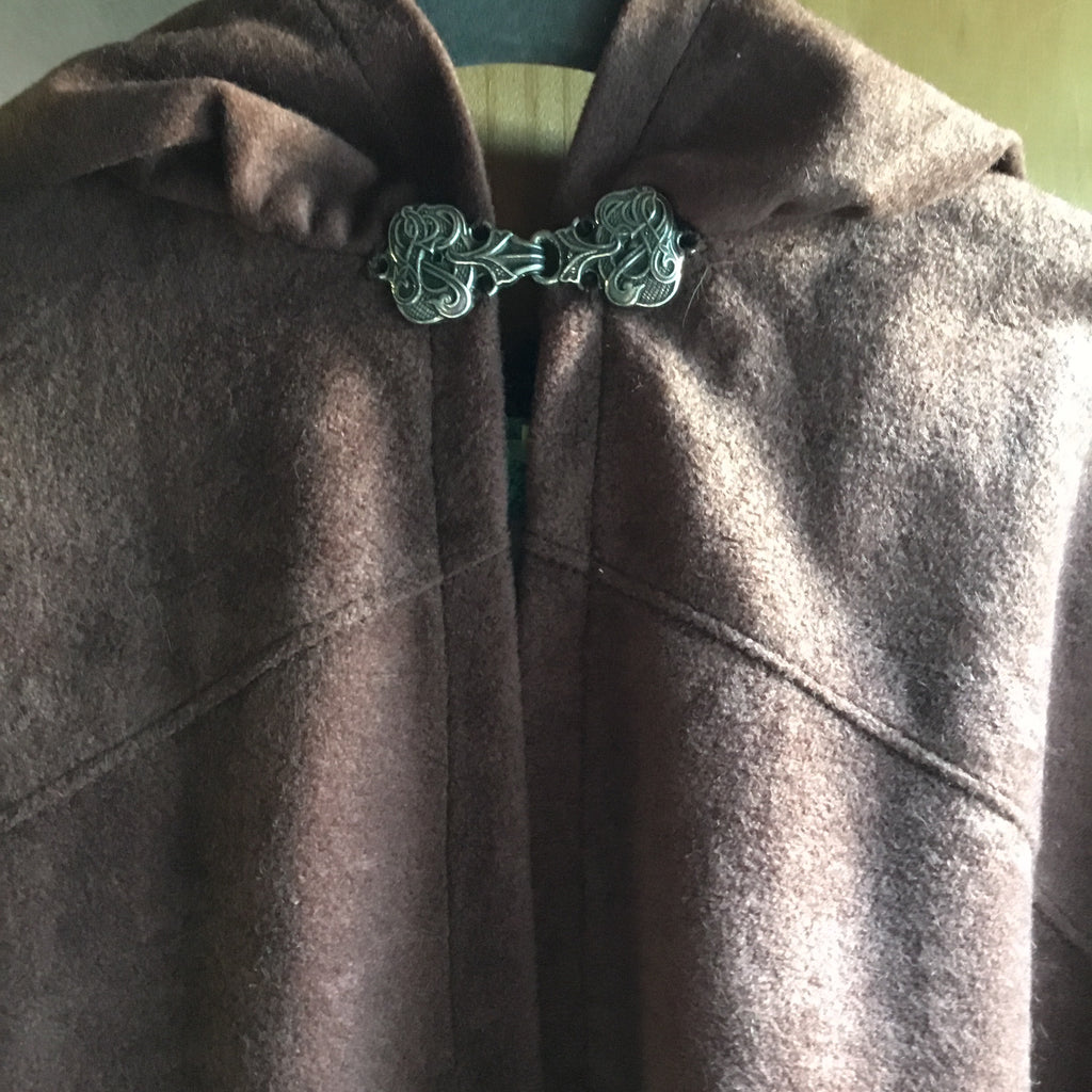 Suedecloth Cape-Brown