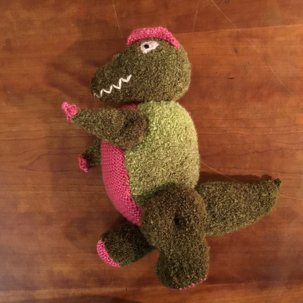 Knitted dinosaur