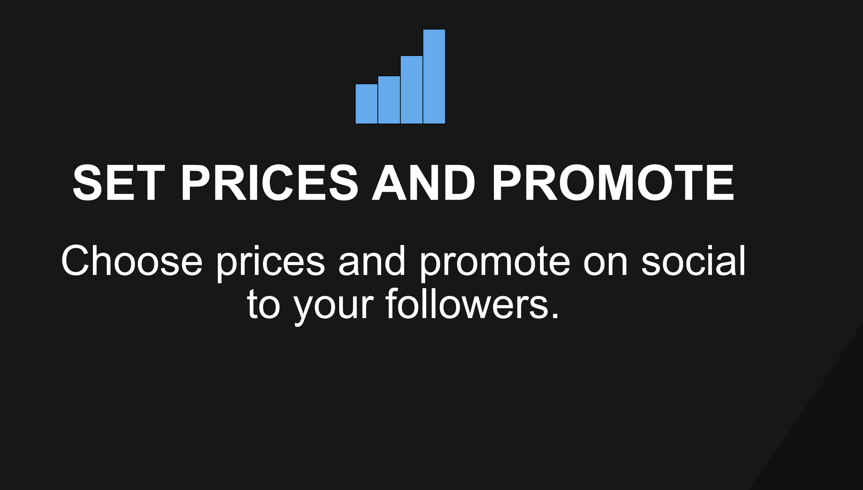 SET PRICES AND PROMOTE