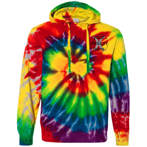 Tie-Dyed Pullover Hoodie