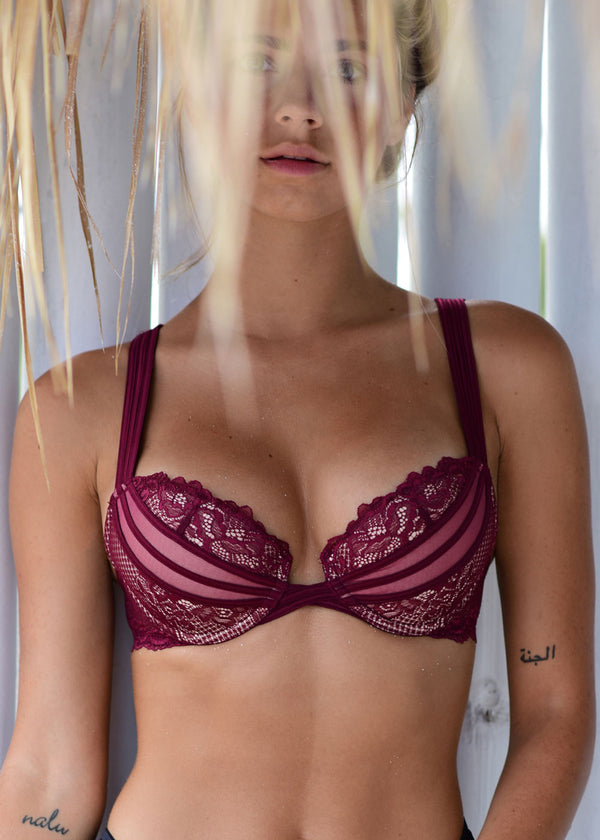 Filigree | Plunge Boost Contour Bra | Queen of the Night