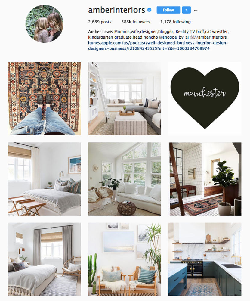 Amber Interiors, Top Interior Design Instagrams, Sugarlift