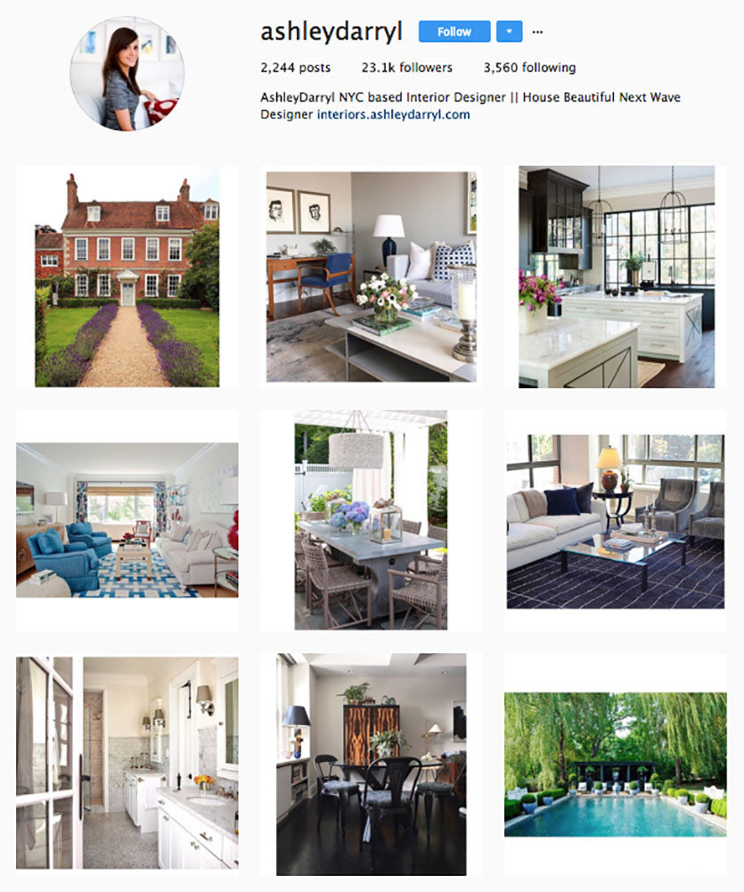Ashely Darryl, Top Interior Design Instagrams, Sugarlift