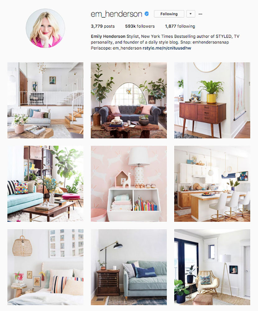 Emily Henderson, Sugarlift, Top Interior Designer Instagrams