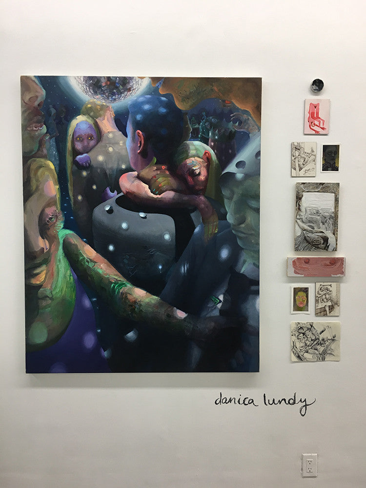 Danica Lundy, Painting, Art, Party, Sugarlift, Open Studios, New York City, Event