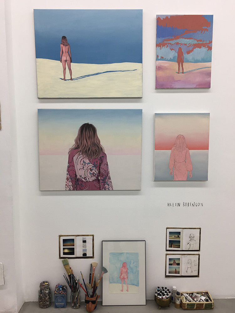 Helen Robinson, Painting, Art, Party, Sugarlift, Open Studios, New York City, Event