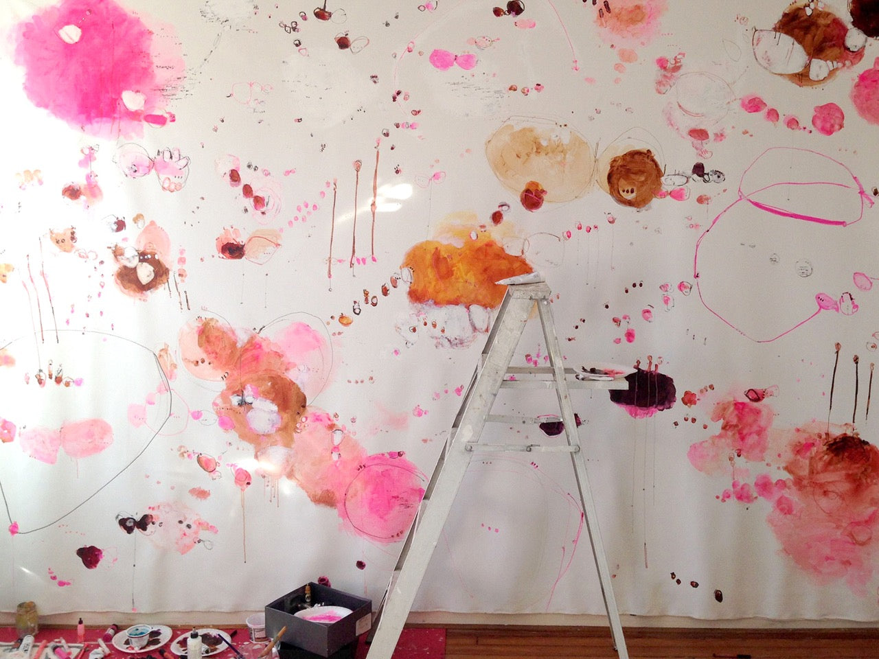 alison cooley abstract painter washington dc maryland pink painting