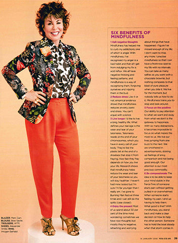 Ruby Wax wearing Imogen Belfield