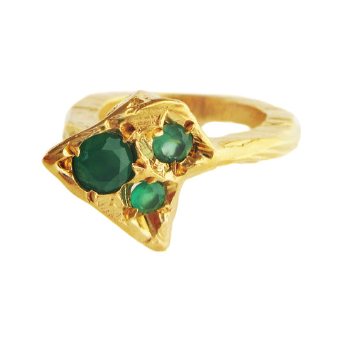 Twisting Emerald Stega Ring