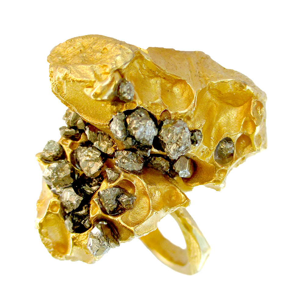 Honeycomb Nugget Ring