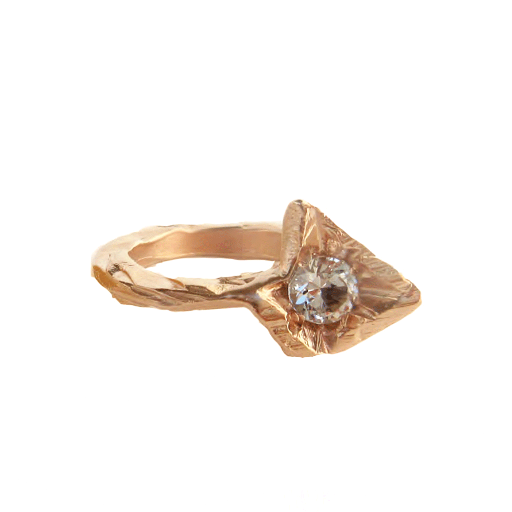Twisting Diamond Stega Ring