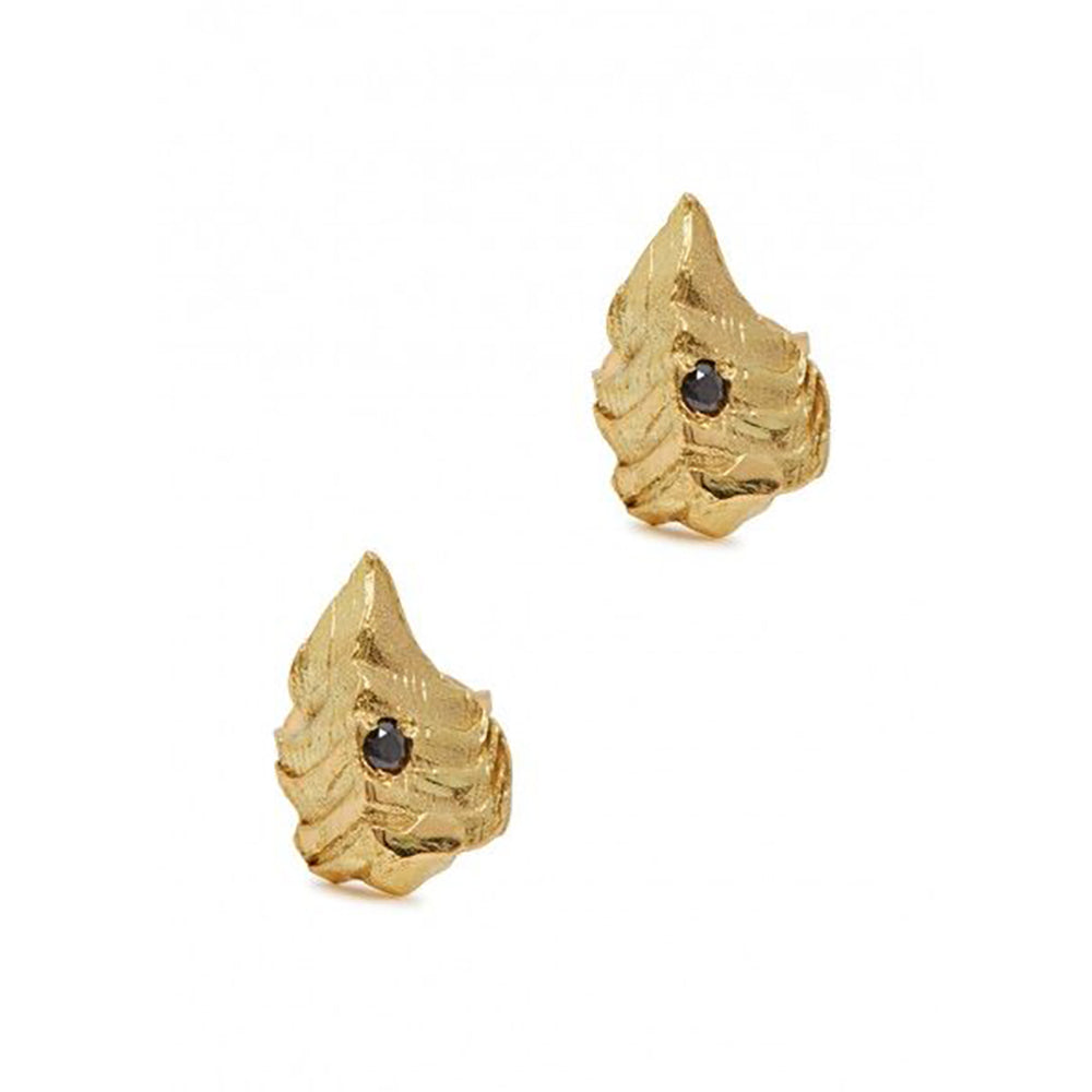 Mini Cycad Diamond Earrings