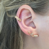 Curved Dagger Porcelain Ear Cuff