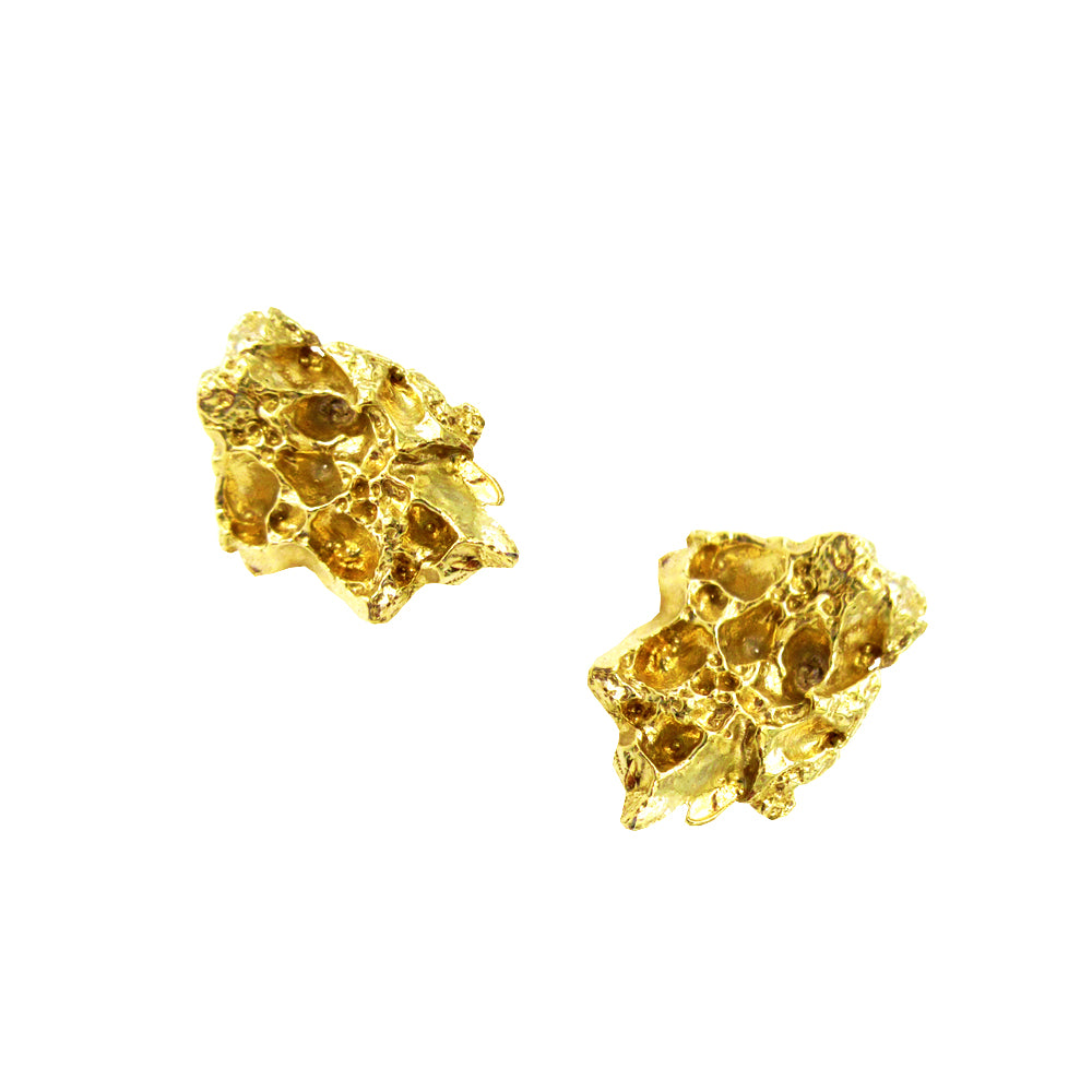 Leaf Nugget Earrings