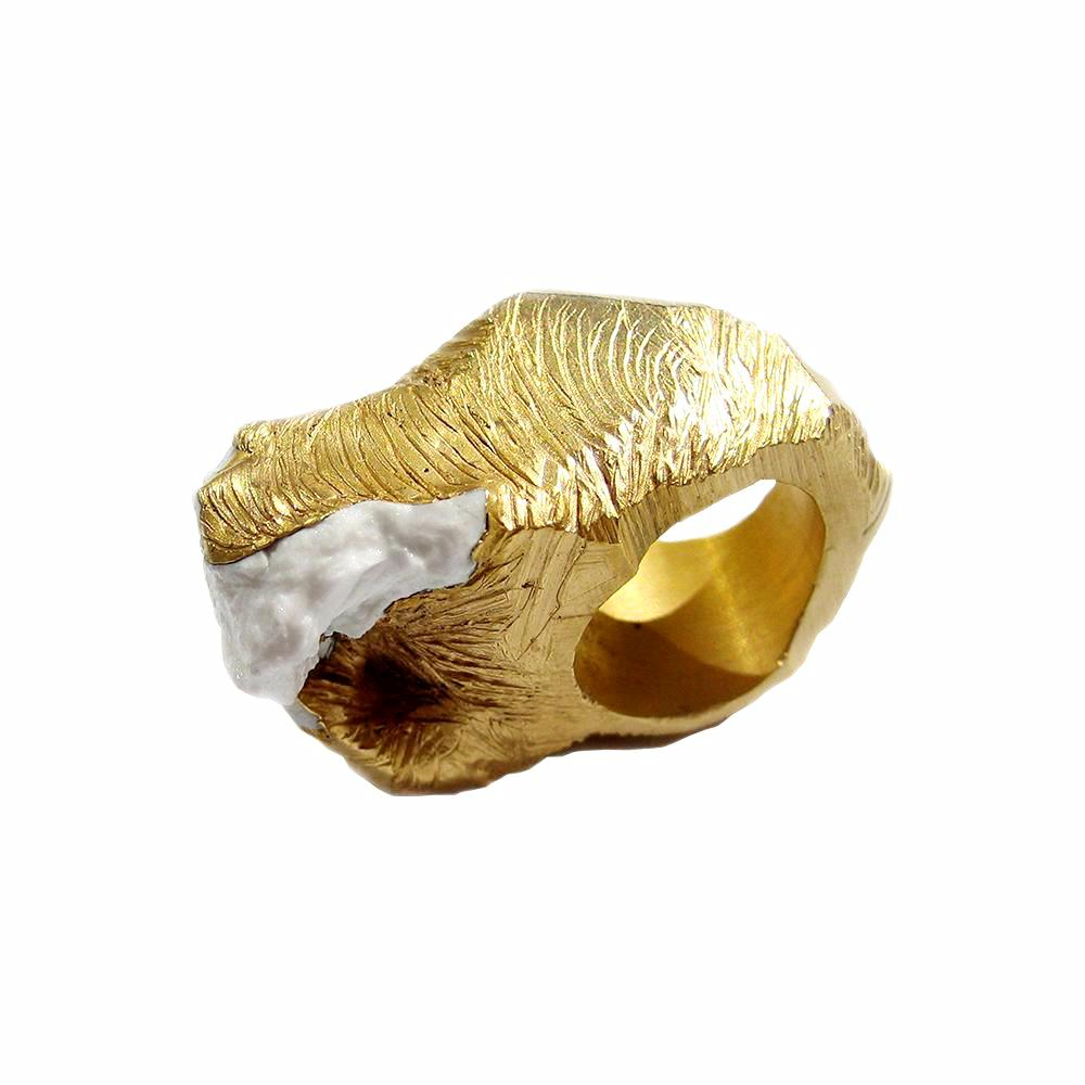 Porcelain Bark Ring