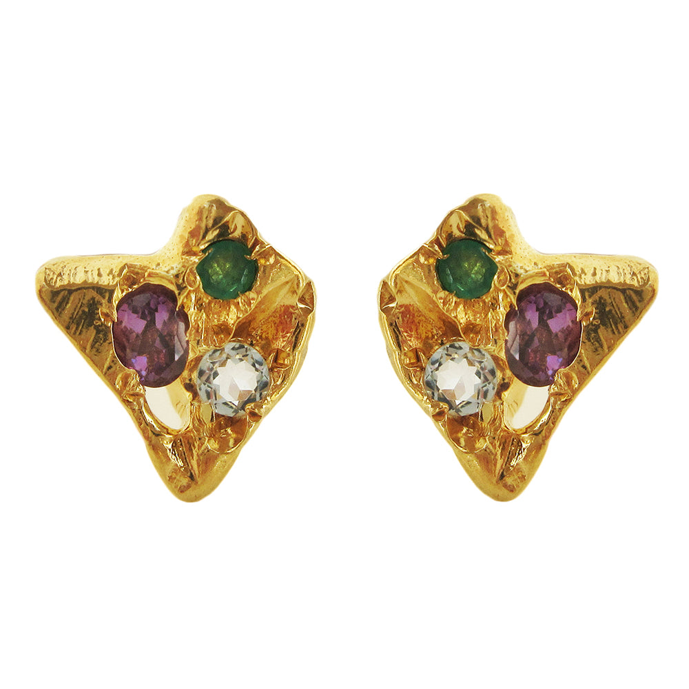 Rainbow Stega Stud Earrings
